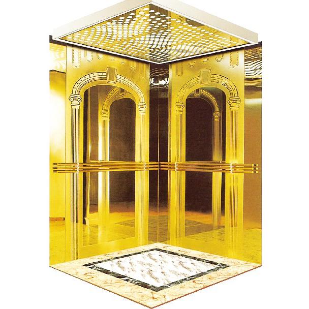 吊顶不锈钢镜面镂空乘客电梯