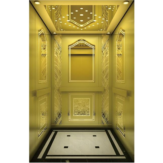吊顶钦金镜面不锈钢边框筒灯款电梯