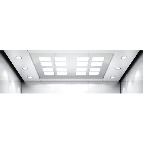 不锈钢框架吊顶乘客电梯